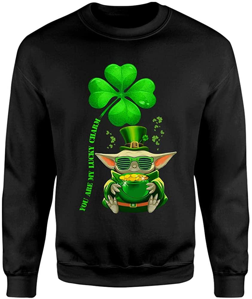 You are My Lucky Charm Baby-Yoda Hug Pot Gold St Patricks Day Gift Shirt