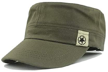 Men's Beret Hat ESKENAS Cotton Sun Hats Solid Flat Denim Hat Buckle Adjustable Newsboy Hats