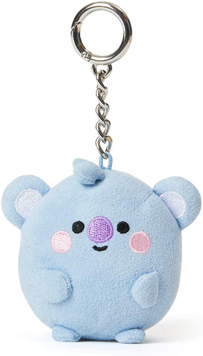 BT21 Baby Series Character Soft Plush Snap Keychain Key Ring Bag Charm, 7 cm
