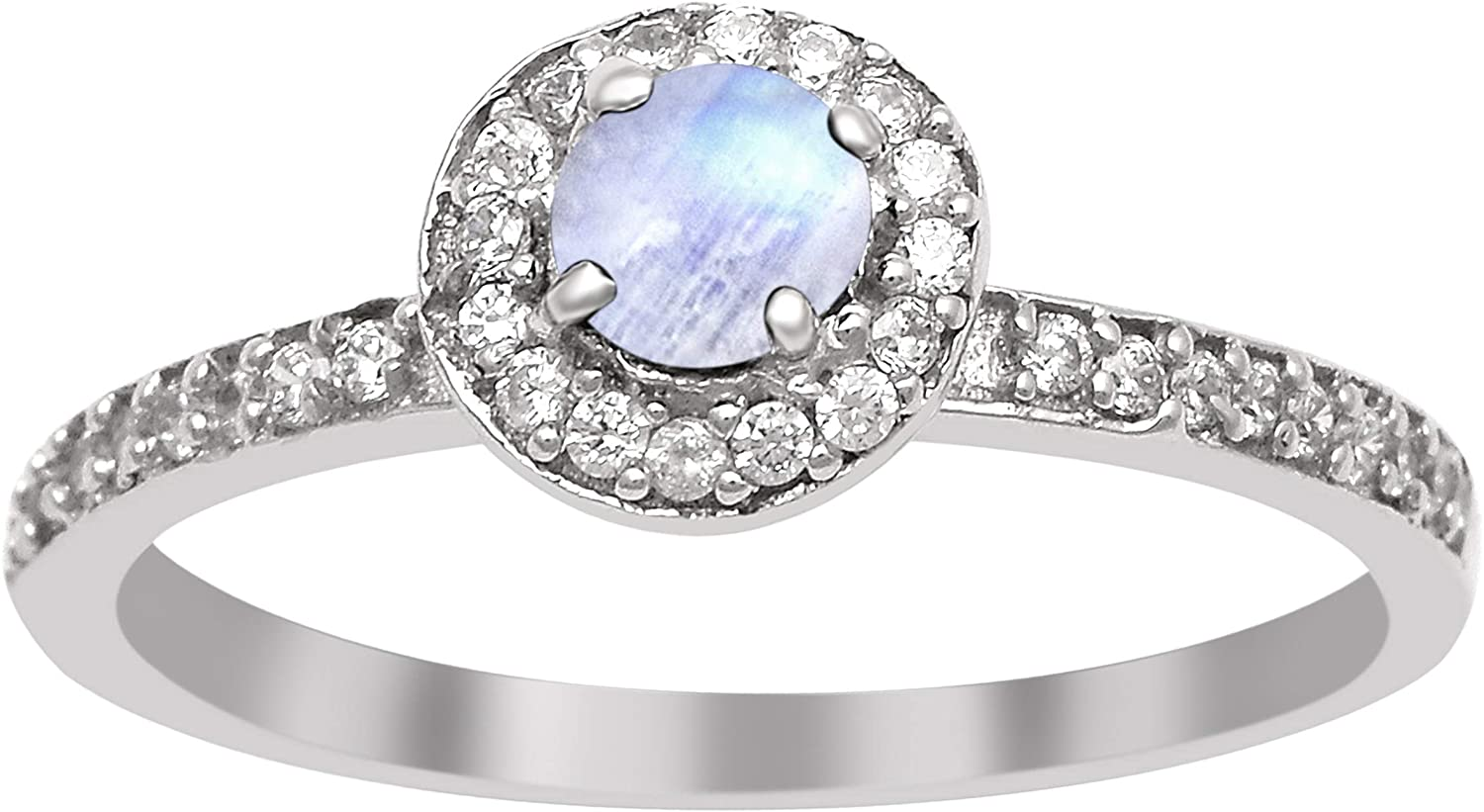 Shine Jewel 925 Sterling Silver 0.30 Ctw Moonstone Solitaire Accents Women Wedding Ring