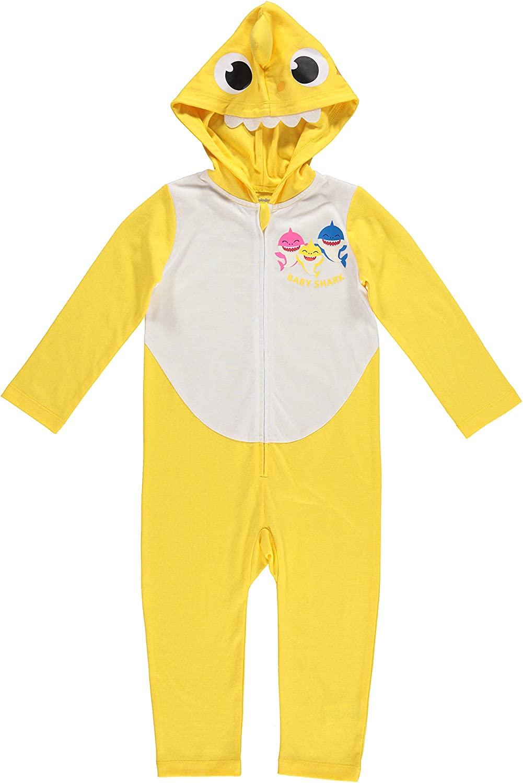 Pinkfong Baby Shark Boy Girl Hooded Long Sleeve Costume Coverall