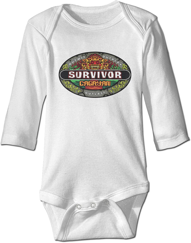 IASIFD Sur-vivor Newborn&Baby Long-Sleeve Bodysuits Cotton Jumpsuit White
