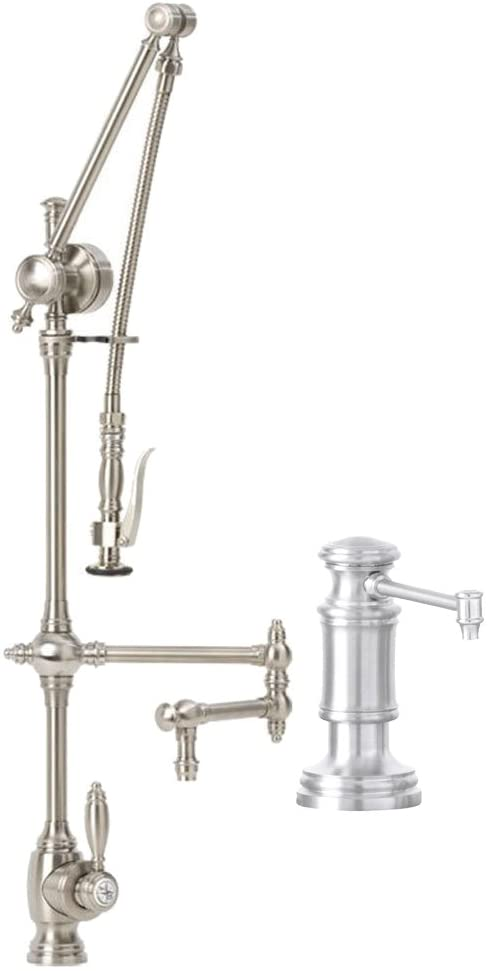 Waterstone 4410-12-2-CH Gantry Pull Out Spray Kitchen Faucet 2 Piece Kit Polished Chrome