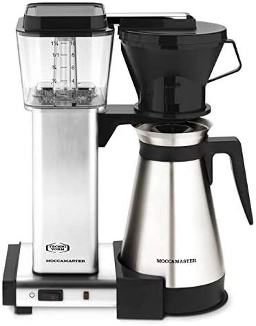 Technivorm Moccamaster 79116 KBT Coffee Brewer, 40 oz, Brushed Silver