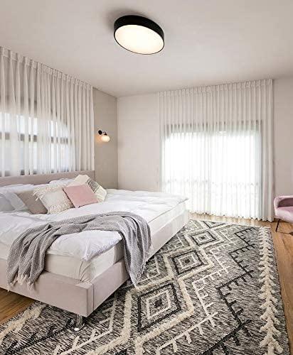We Rugs Beautiful Area Rugs for Living Room Decor, Modern Geometric Handmade Area Rug,Black 5' x 8'