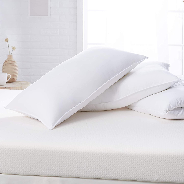 DHgateBasics Down Alternative Bed Pillows - Firm Density, King, 2-Pack
