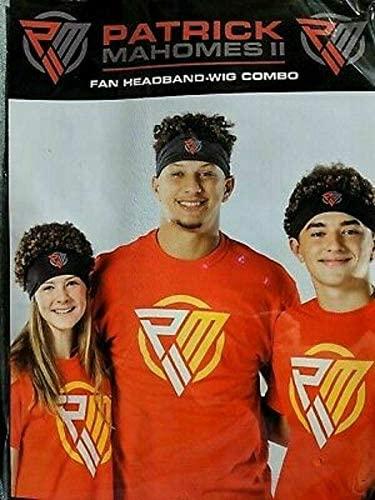 Hyvee Patrick Mahomes Fan Headband-Wig Combo