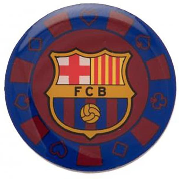 Official Licensed F.C Barcelona - Metal Badge (Poker CHIP)