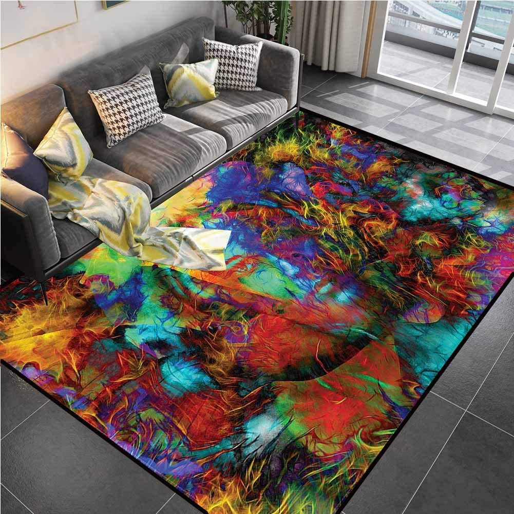 Area Rug Print Large Rug Mat Mystic,Woman Face Spirit Chair mat for Carpet for Kids Yoga Living Room Home Decor Rugs 6'6