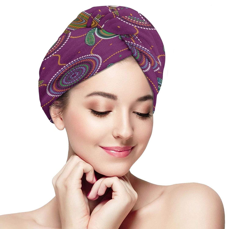 Hair Towel Wrap Sea Turtles And Jellyfish Purple Lavender Microfiber Towels Bath Shower Head Wraps Twist Turban Quick Dry Hair Cap for Women Drying Long, Curly, Wet Hair Sauna Accessories