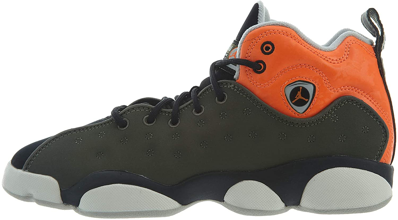 Nike Jordan Youth Jumpman Team II GS Leather Synthetic Twilight Marsh Total Orange Trainers