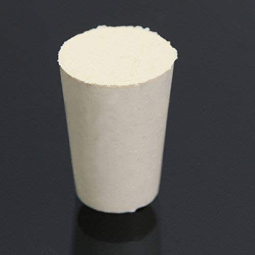 Piston Test Tube Solid WhiteTapered Rubber Stopper Plug Bung Labor Sealing Ring Device - # 2