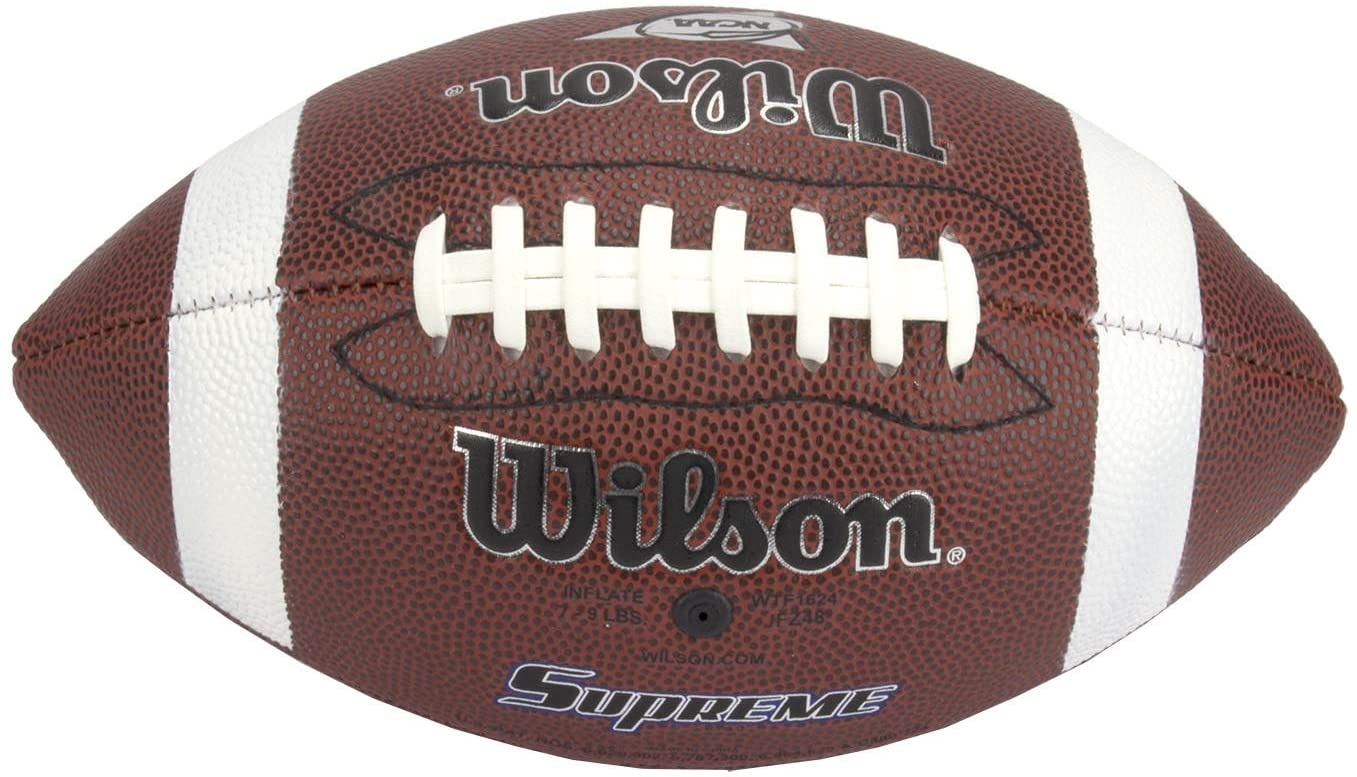 Wilson NCAA Composite Supreme Leather Junior Size American Football   WTF1663X