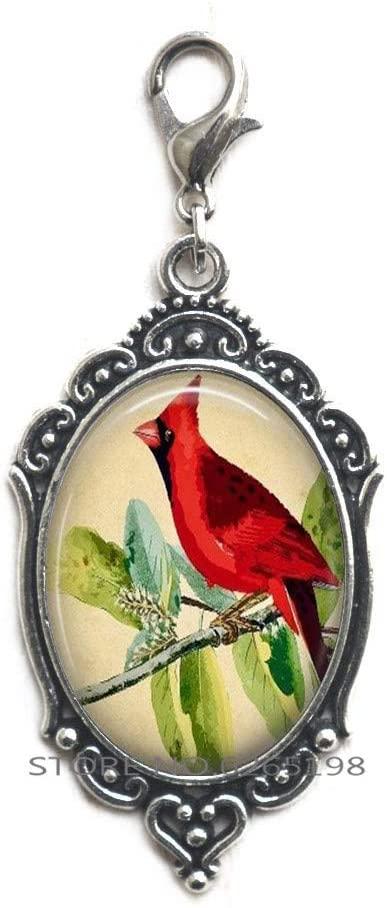 Cardinal Jewelry Cardinal Zipper Pull Cardinal Red Bird Zipper Pull,Memorial Zipper Pull, Loved Ones,Memorial Gift,N175