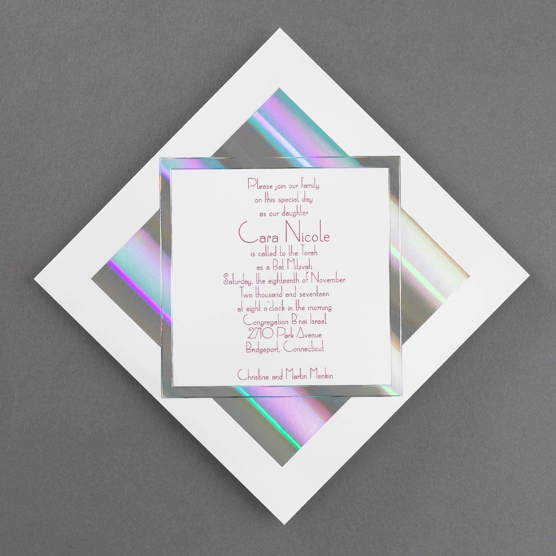 1250pk Prisms - Invitation-Bar & Bat Mitzvah Invitations