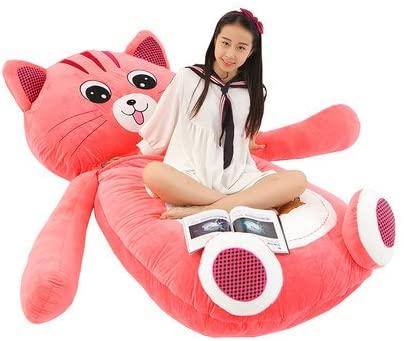TANGDOU kawaii stuffed plush bed Big PP Comfort Cover with Memory Foam Filler - Gigantic Bed, Large Sofa, Cozy Lounger, - Kids, Adults & Teens Love This Huge Sack cat Sleep 79 inch
