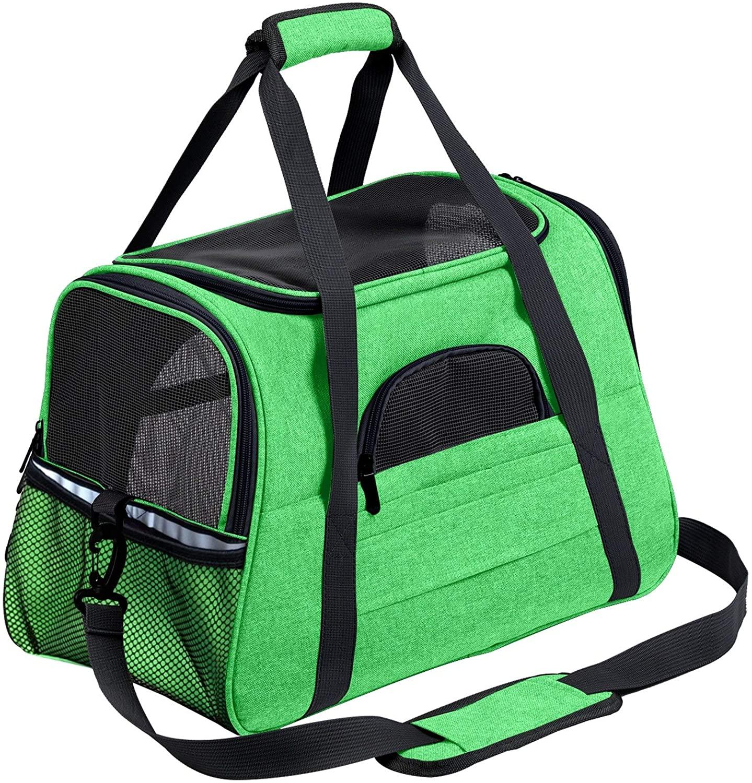 WUZHOUAME Pet Backpack New Portable Pet Cat Dog Travel Carrier Pet Backpack Messenger Carrier Outgoing Travel Packets Breathable Pet Carrier Bags