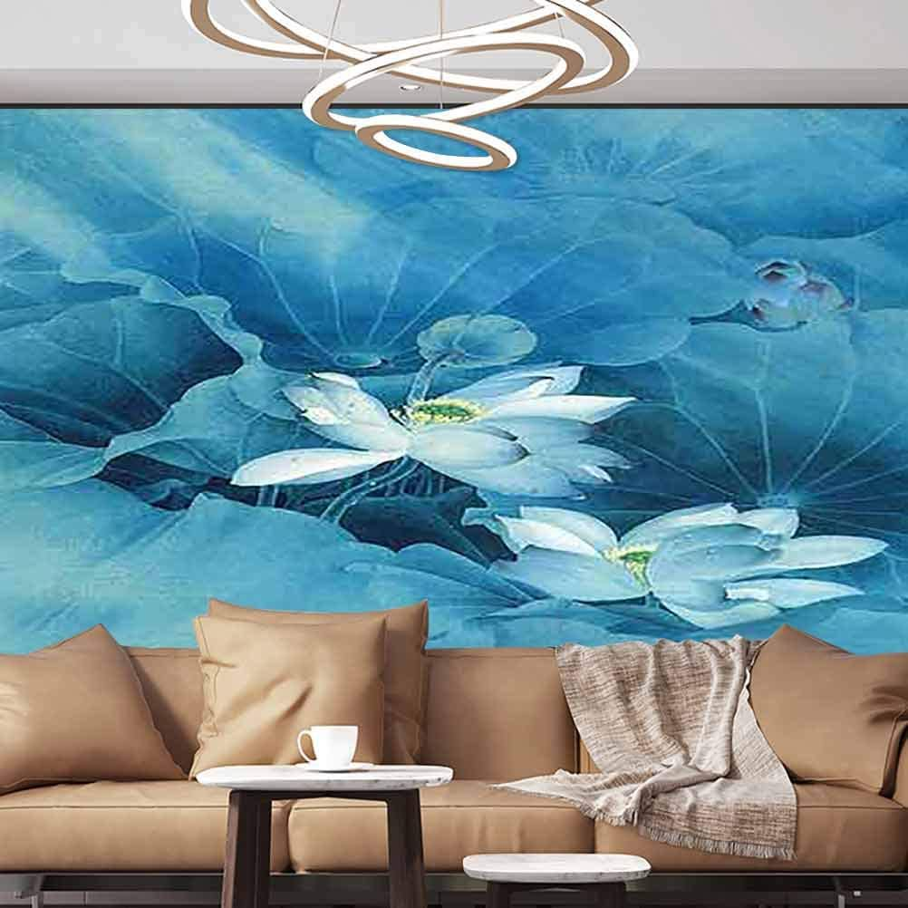 Albert Lindsay Backdrop Wall Paper Decorations Flowers on The Tree Drawing Pastel Magnoli Removable Wall Mural,152