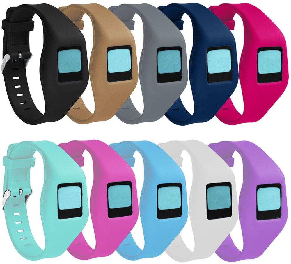 QGHXO Buckle Bracelet for Fitbit Zip, Replacement Silicone Band with Chrome Watch Clasp and Fastener Buckle for Fitbit Zip