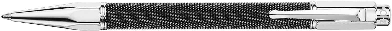 Caran d'Ache Varius Ivanhoe Silver Plated Ballpoint Pen - Black