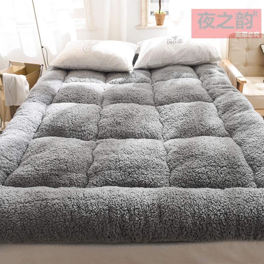 NMJNMK Flannel Sleeping Tatami Floor Mat,Foldable Futon Mattress Pad Soft Japanese Roll Up Student Dormitory Mattress Pad