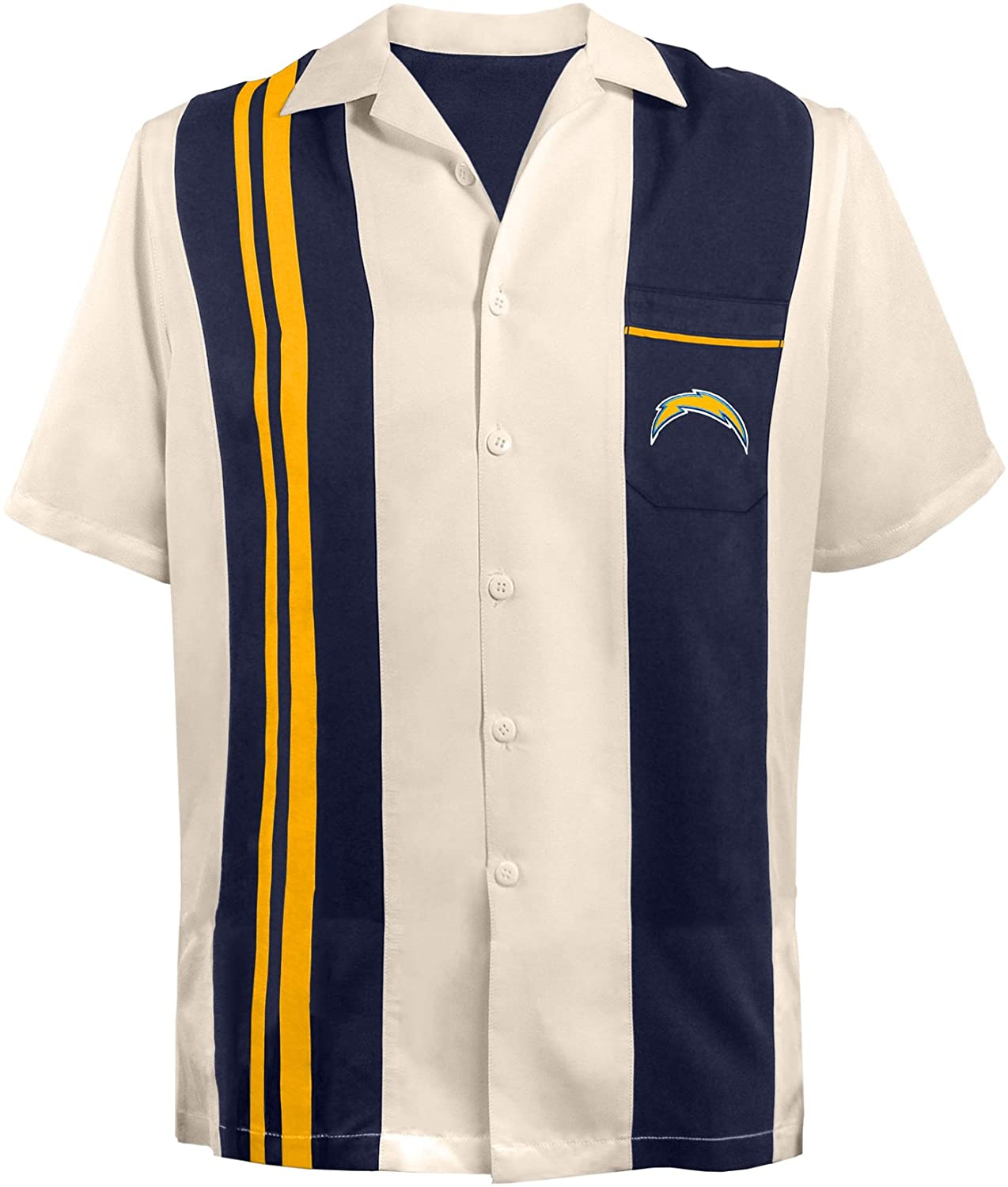 NFL San Diego Chargers Unisex NFL Bowling Shirt Spare, 2-x-Large, Navy Blue
