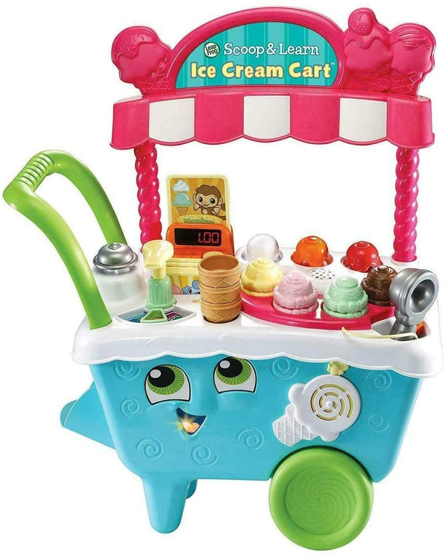 Victoat New Scoop & Learn Ice Cream with Leapfrog Cart Play and Pretend for Girls and Boys Present