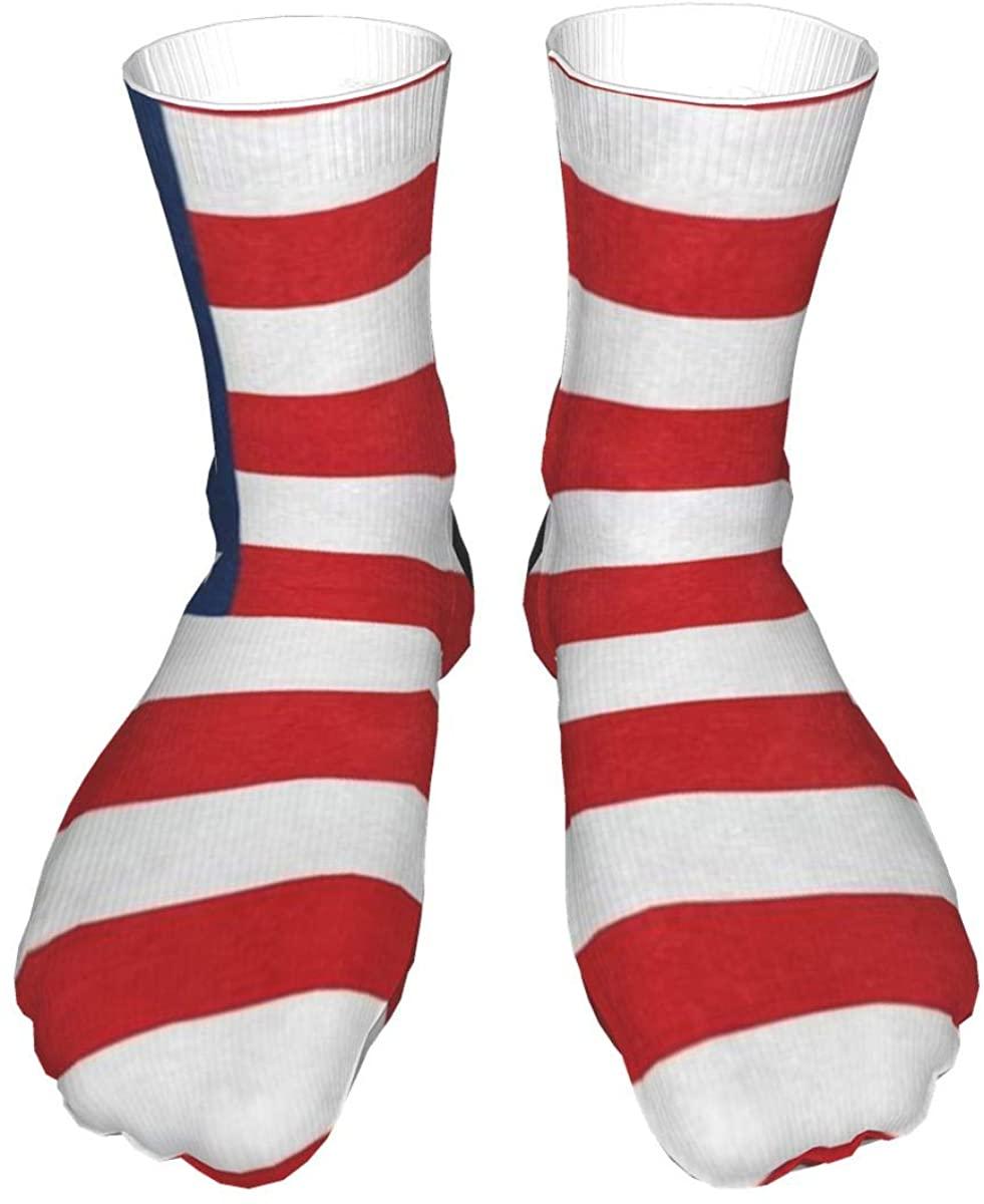 Crew Socks Abstract Football Soccer Ball Watercolor Mens Womens Novelty Mid Calf Dress Casual Socks Man
