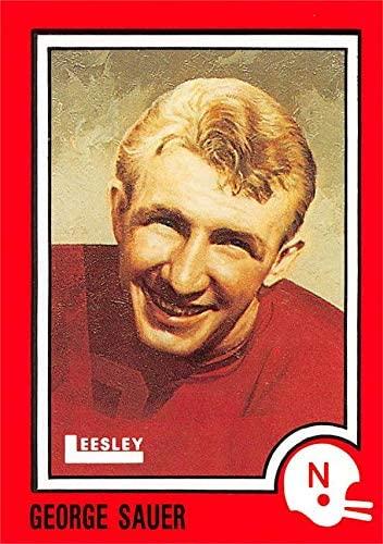 George Sauer Football Card (Nebraska Cornhuskers Running Back) 1989 Leesley Pizza Hut #68