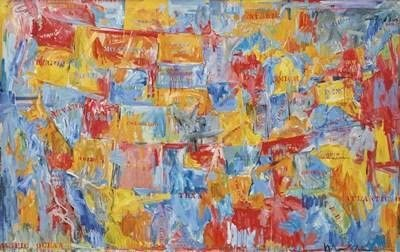 Jasper Johns - Map of the United States Art Print
