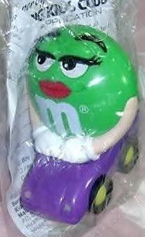 BURGER KING M&M CANDY DISPENSER mini Green by M & M's
