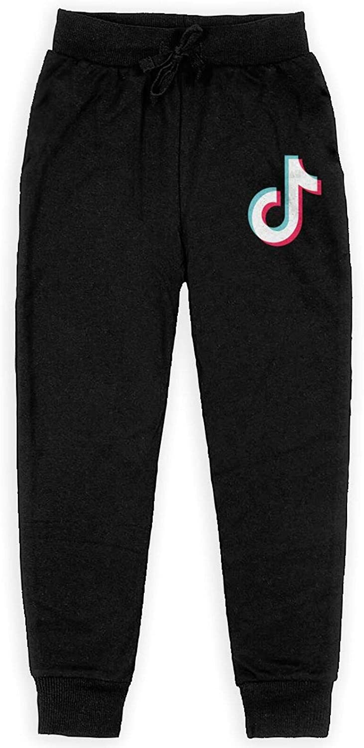 Nyf TIK-Tok Kid's Child Pants Teenagers Sweatpants Soft Casual Pull-On Jogger Sweatpant with Pockets Black