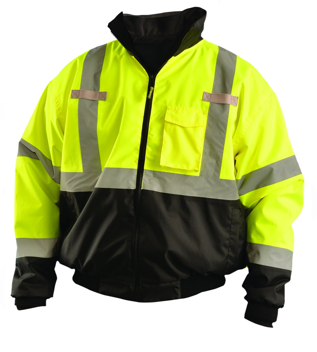 Jacket, Insulated, 2XL, Yellow, 30-1/2inL