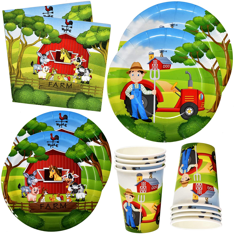 Farm Animal Barn Party Supplies Set Includes 24 9