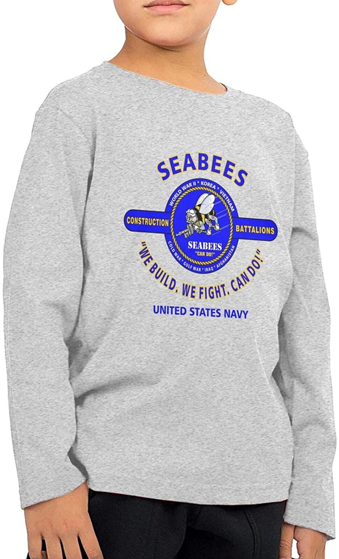 Trend Navy Seabee Vietnam Veterans Boy Girls Movement Children Sleeve T-Shirt Long Sleeve Shirt