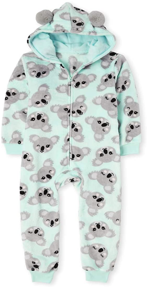The Children's Place Girls' Printed One Piece Sleeper