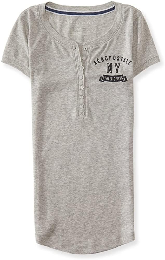 AEROPOSTALE Womens Ny Athletic Divs. Henley Shirt