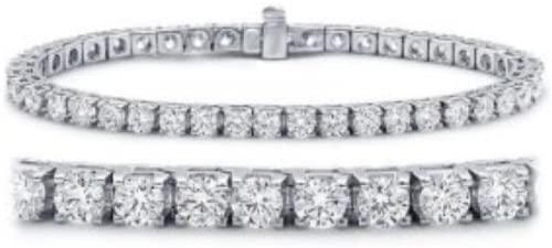 Houston Diamond District 2-12 Carat Classic Tennis Bracelet 14K White Gold Value Collection