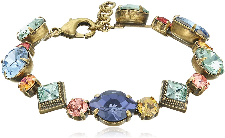 Sorrelli Women's Bold Geometric Crystal Bracelet, Multi, 7.25