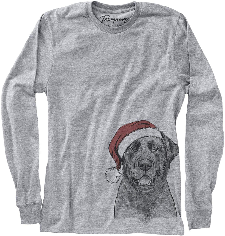 Inkopious Christmas Heath The Black Lab Labrador Retriever Dog Triblend T-Shirt