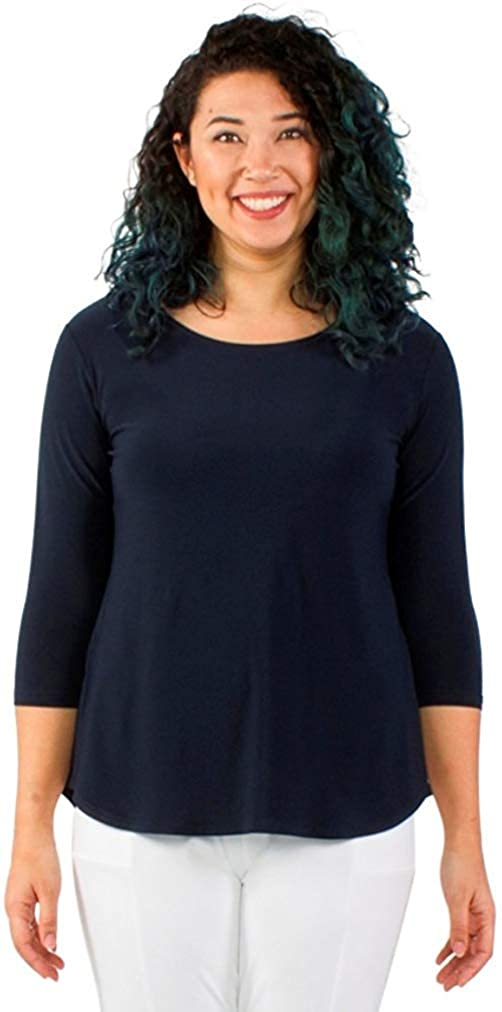 Sympli Womens Go to Classic T Relax, 3/4 Sleeve
