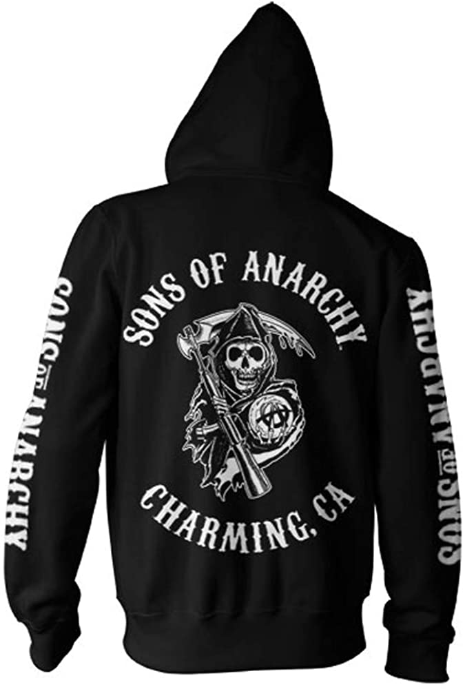 Sons of Anarchy Officially Licensed Merchandise SOA Full CA Backprint Zip Hood