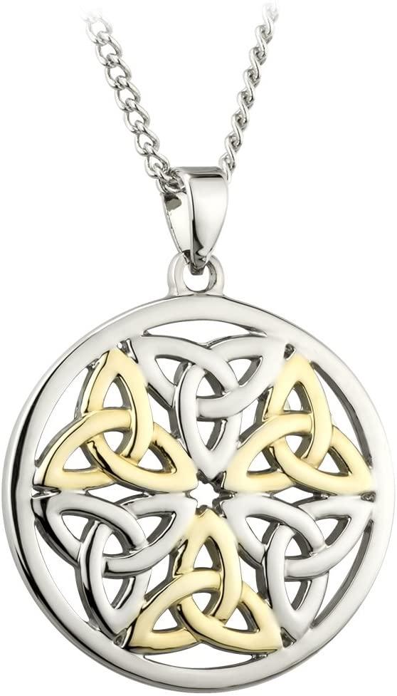 Solvar Celtic Two Tone Trinity Knot Pendant