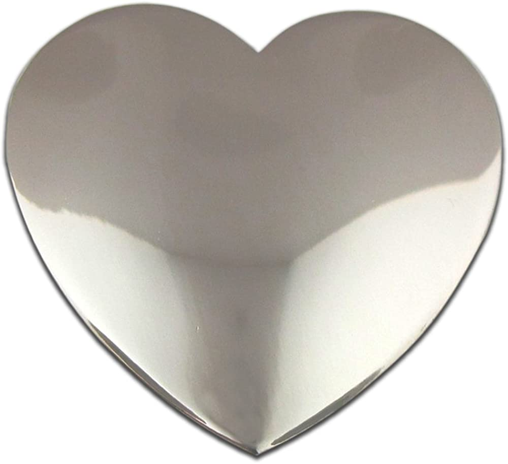 PinMart Classic Shiny Silver Heart Valentine's Day Lapel Pin