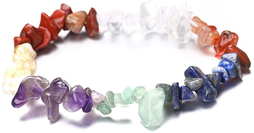 Timetries Simple Bracelets 7 Chakra Healing Natural Stone Crystals Bead Women Party Jewelry Gift
