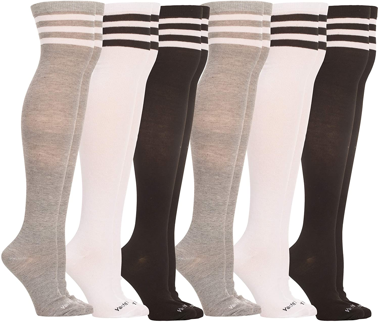 Yacht & Smith Womens Over the Knee Socks, Assorted Premium Soft, Cotton Colorful Patterned