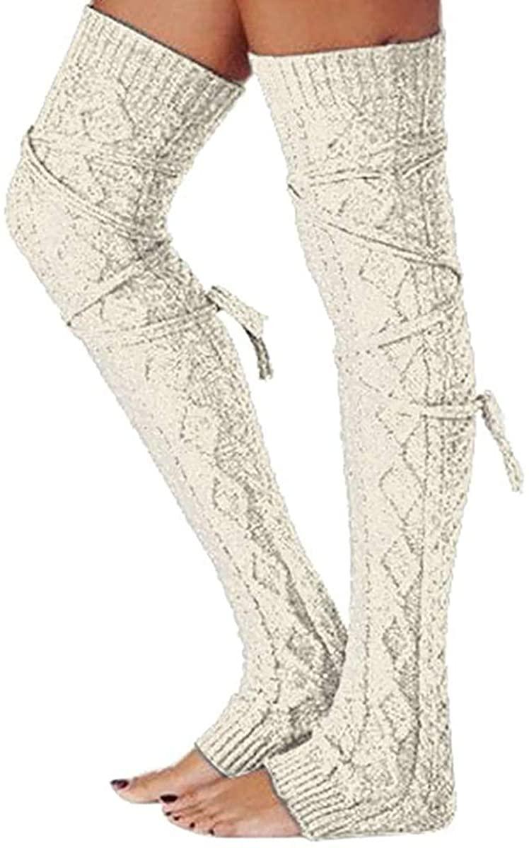 Women Wool Stockings Casual Long Boot Socks Over Knee Thigh Stocking Leg Warmers