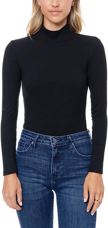 Elodie Women's Ribbed Mock Neck Bodysuit