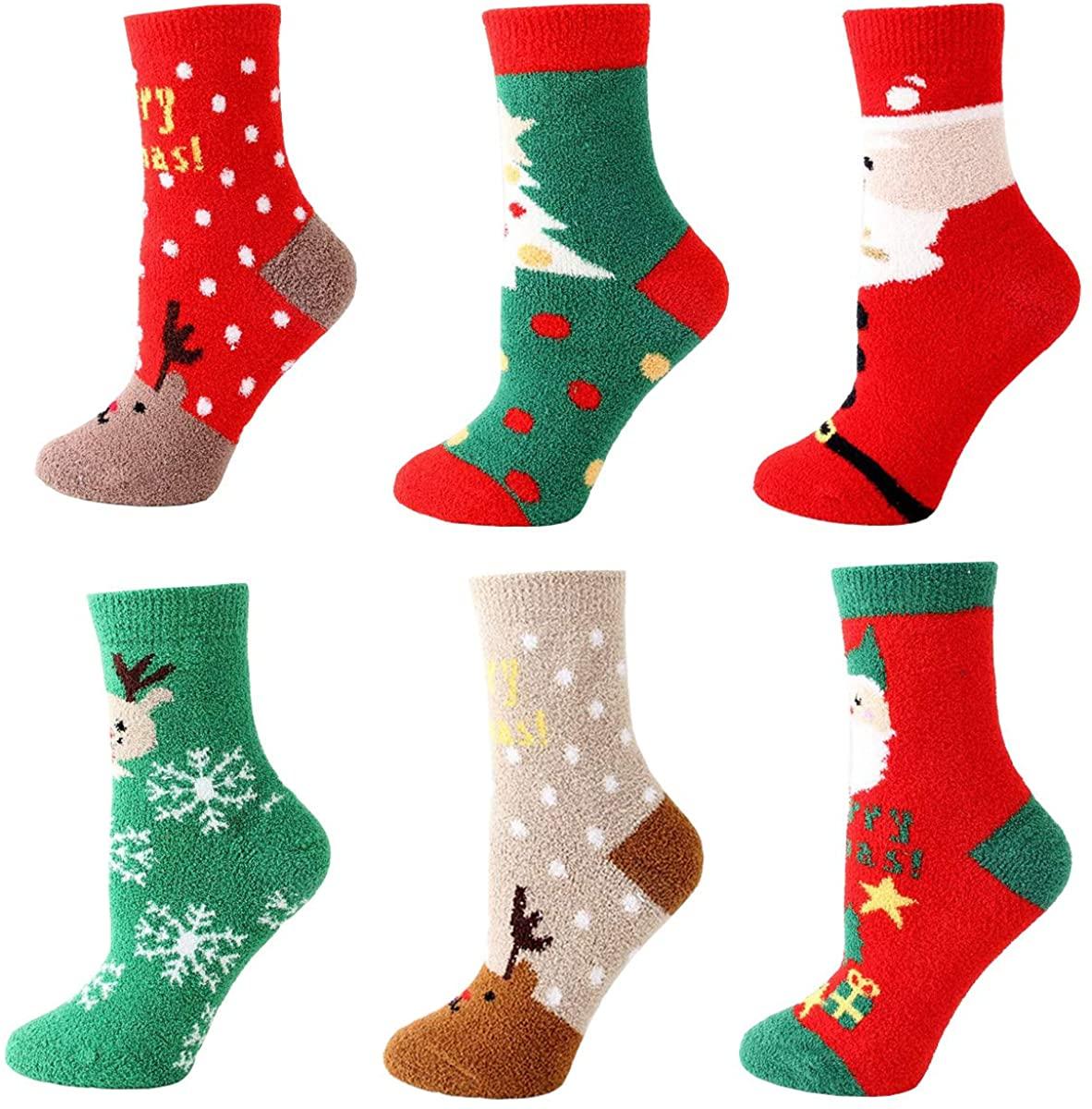 Christmas Unisex-adult Funny Novelty Winter Socks 6 Pack