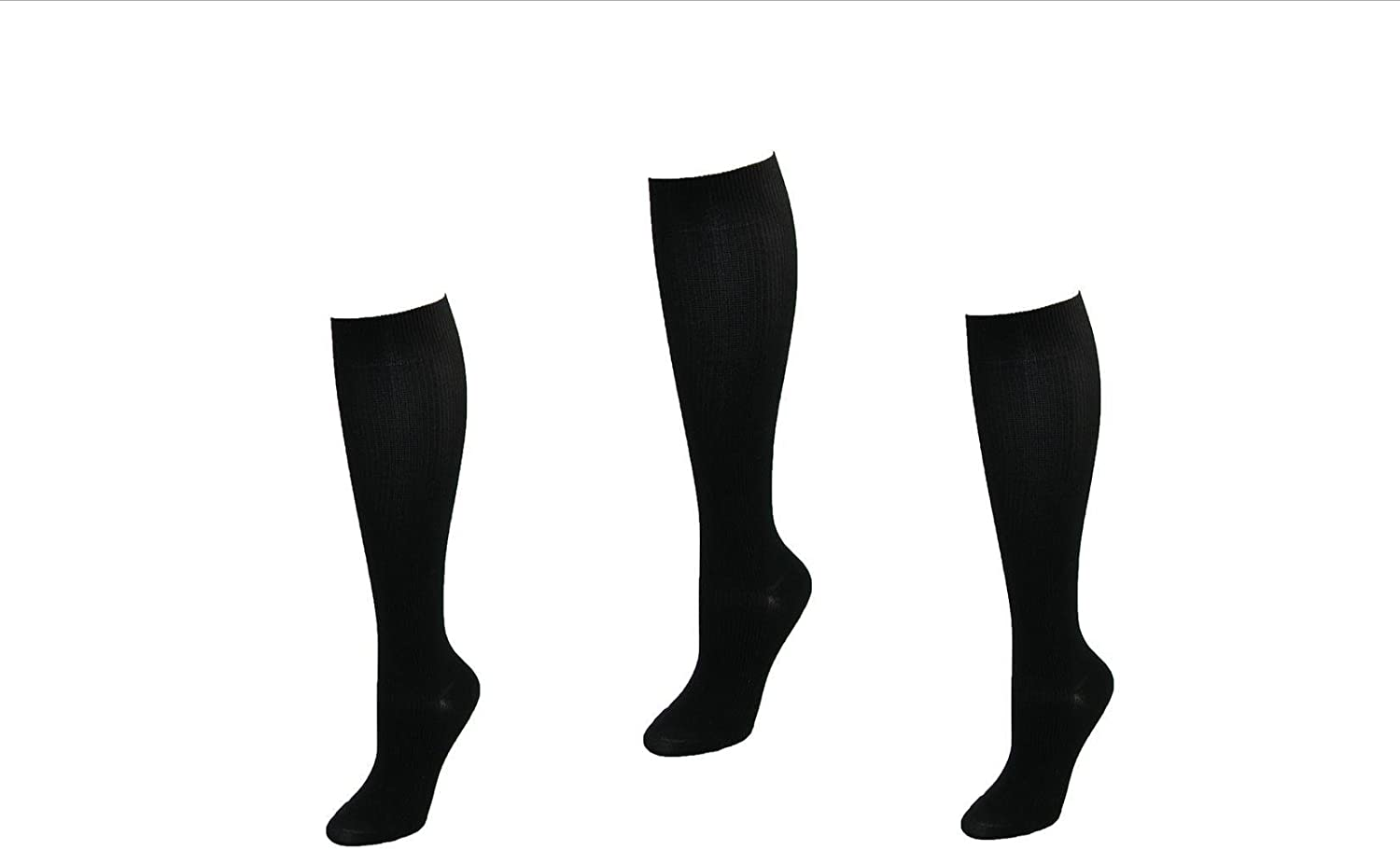 Think Medical Women's Gradient Compression Knee High Socks (3 Pair Pack)